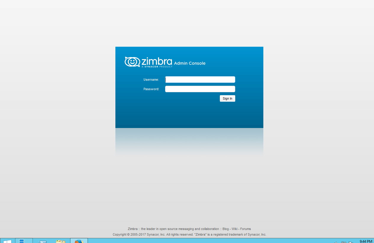 install zimbra server