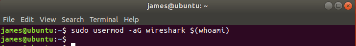 Add user to wireshark group