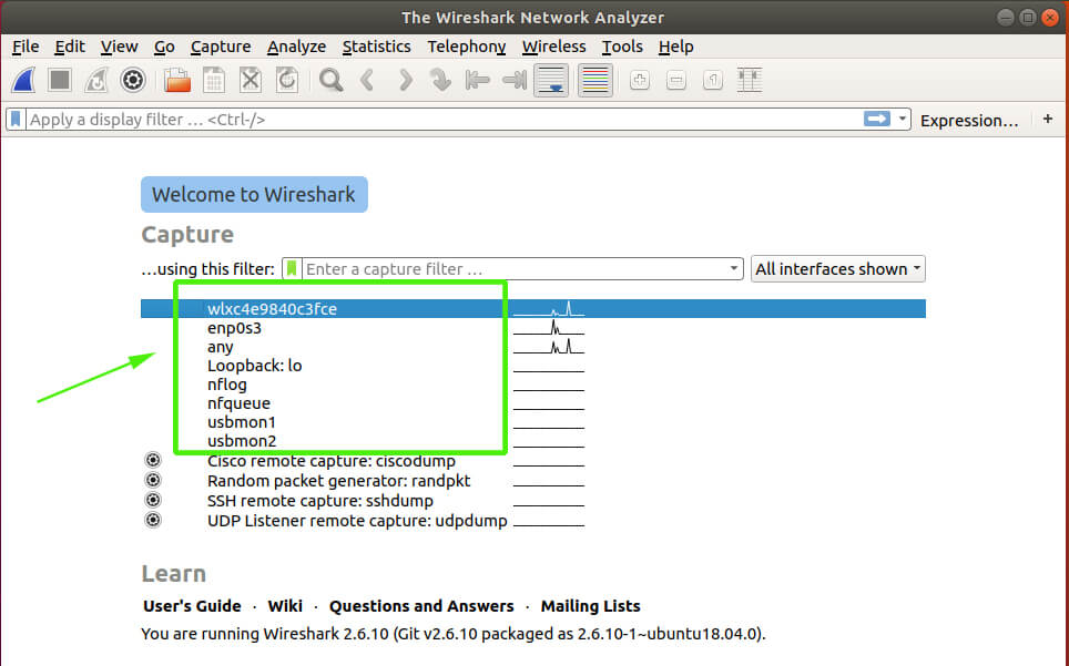 Wireshark all interfaces
